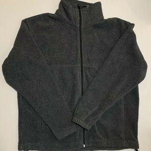 Columbia Mens Zip Front Fleece Sweater Jacket
